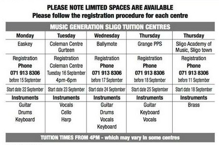 Sligo new term 2014 15
