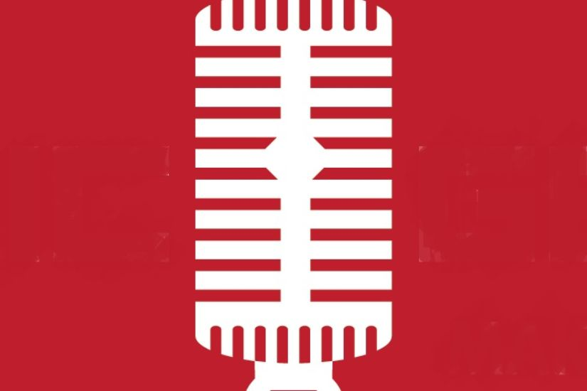 MG Logo Mic Only Red on White