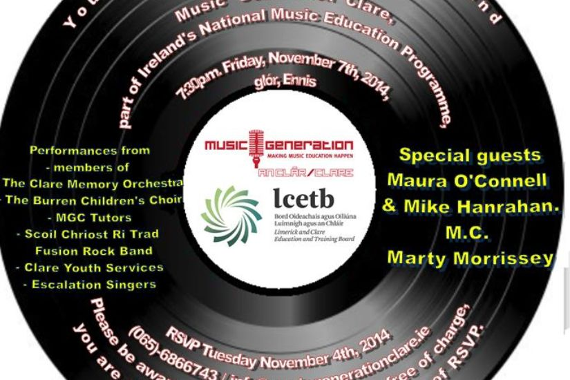 Music Generation Clare Launch Concert 7 11 14