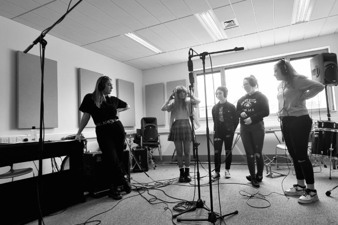 The SubSounds Music Collective recording for DECLARE & PROTEST. Image: Alternative Entertainments/Music Generation South Dublin