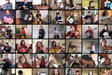 Nós Nua - Louth Youth Folk Orchestra perform online with Mohsen Amini