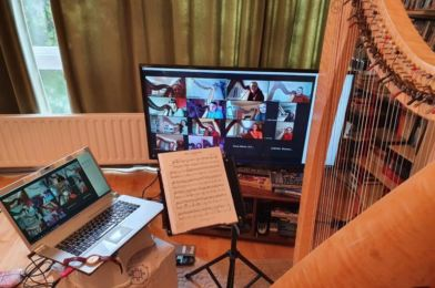 Captured footage of the great work taking place online via Zoom (Photo credit: Music Generation Laois)